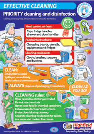 Food Hygiene Poster Poster 12 Effective Cleaning Highfield Training Products Food