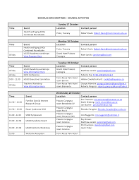 Event Schedule Template Google Docs | Schedule Template Free