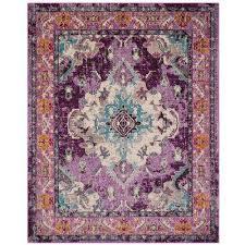 monaco violet light blue 8 ft x 10 ft area rug