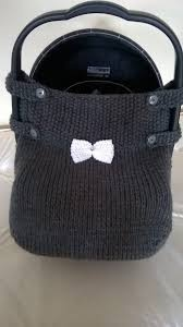 hand knitted car seat cover knitting crocheting pattern for baby car seat cover