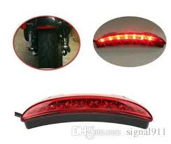 led motorcycle racer taillight motorbike brake lights rear fender