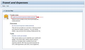 Travel And Expenses Registering Travel Expenses Claims In The Hr Portal For