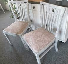 Stuhl Stühle Sessel Esszimmer Küche Shabby Chic Vintage Federkern