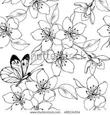 Small Picture Hand Drawn Branch Cherry Blossom Pear Stock Vector 408134554