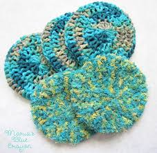 Red Heart Scrubby Yarn Patterns Extraordinary Double Sided Extra Thick Scrubby For Bath Kitchen Maria's Blue