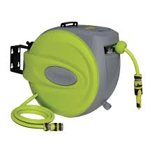 Verve Auto Rewind Garden Hose Reel (L)25 M | Departments | DIY at B&Q.