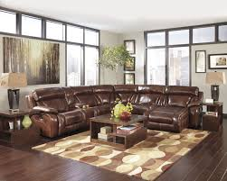 clark 6pc leather modular sectional sofa chocolate