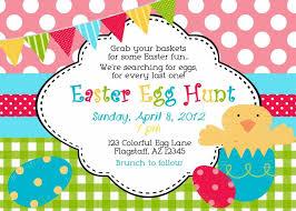 Easter Egg Hunt Invitation Wording Easter Invitations Egg