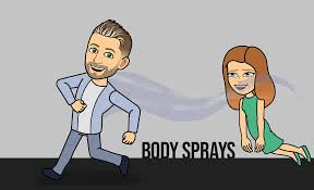 Image result for body spray photo use by girl and boy