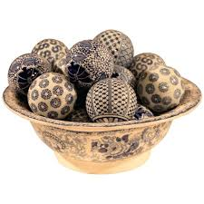 Decorative Balls For Bowls Canada Fascinating Decorative Balls Blue And White Ceramic Bowl With For Sale Walmart