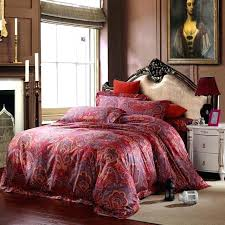 red paisley bedding sets cotton luxury king size queen quilt duvet cover comforter set tommy hilfiger