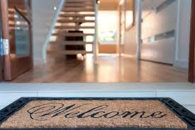 open door welcome mat. Modern Open Door Welcome Mat O