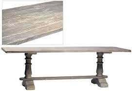 grey wash dining table. Grey Wash Trestle Dining Table S