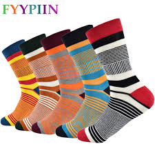 Discount Mens Designer Socks Us 8 23 22 Off 2019 New Men Socks Casual Mens Color Stripes The Latest Design Popular 5 Pairs Striped Suit Fashion Designer Coloured Cotton In