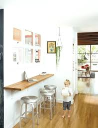 wall bar table small space solution for an eat in kitchen wall mounted oak bar with wall bar table