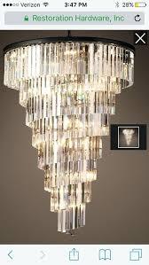 rh chandelier three tier
