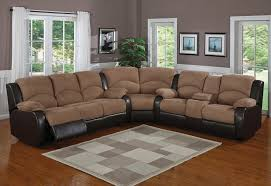 reclining sectional microfiber. Beautiful Reclining Microfiber Reclining Sectional Furniture With Armrests Modern Area Rug In  White And Grey Toned Colors For Reclining Sectional A