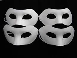 Blank Face Masks To Decorate 60 x HALF FACE MASK PAINT MASK DECORATE PLAIN MASKS white mask 25