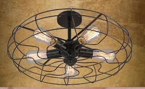 enclosed ceiling fan. Cage Enclosed Ceiling Fan With Light G