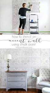 stencil wall paper stencil ideas stencil an accent wall cool and easy stenciling tutorials for making stencil wall