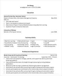 30+ Resume Examples | Free & Premium Templates within Harvard  Extension School