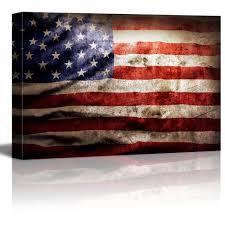 closeup of grunge american flag vintage retro style patriotic concept wall decor ation favorite canvas art on patriotic canvas wall art with closeup of grunge american flag vintage retro style patriotic