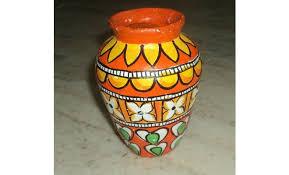 Pot Decoration Designs Kerala Mural Style Pot Painting 39