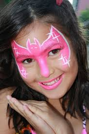 bat girl face paint design painted by cynnamon in claremont snazaroo facepaint