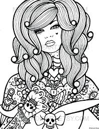 Skull Coloring Book Printable Coloring Pages For Adults Sugar Skulls