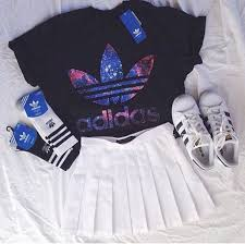 adidas outfits. adidas, black, clothes, cool, cute adidas outfits e