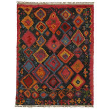 new contemporary tulu area rug with tribal style for