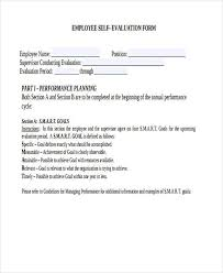 Self Evaluation Interesting 48 Employee SelfEvaluation Form Samples Free Sample Example