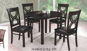 5 pc harold espresso finish wood 42 round dining table set this set includes