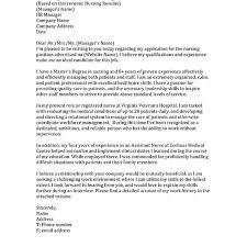Nursing Cover Letter Sample Nursing Cover Letter Whitneyport Daily Com