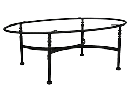 oval black wrought iron coffee table for home furniture idea