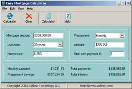 Easy Mortgage Calculator Software From Ashkon Technology Llc