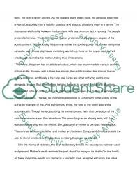 poetry analysis essay example one art poem essay examples  related essays poetry robert frost poetry analysis essay example