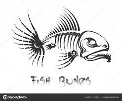 тату рыба костей векторное изображение Vectortatu 172336454
