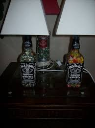 picture of how to turn your old liquor bottles into desk lamps
