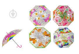 ᐉ Зонт UM5265 в ассортименте прозрачный с рисунком • Купить ...
