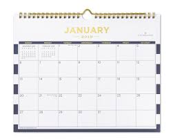Small Calender January 2019 Small Wall Calendar Navy Stripe Day Designer