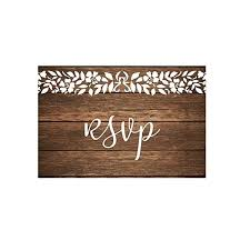 Photo Invitation Postcards Rsvp Cards For Wedding Invitation 50 4x6 Rsvps Rustic Wood White Lace Rsvp Postcards With No Envelopes Paper Response Reply Rsvp Post Card Kit For