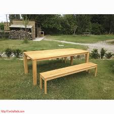 Belle Table Et Banc De Jardin En Bois Id Es D Coration