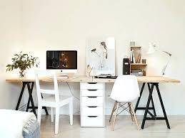 desk maison du chocolat apartamento de 77m2 double work table with drawers in the center