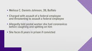 Buffalo woman charged with spitting on postal worker, claiming she has  COVID-19 | cbs19.tv