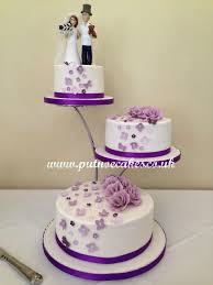 Simple 3 Tier Wedding Cake Designs Separator Stand 3 Tier Wedding Cake Bride And Groom Topper