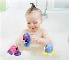 ikidsislands bath toys for toddlers girls boys kids babies floating wind up swimming baby bathtub toys fun and educational purple dolphin