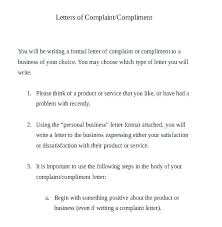 Letters Of Complaints Samples Formal Complaint Email Template Bookmylook Co