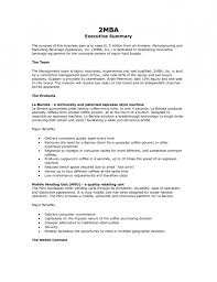 example of writing an executive summary | Resume Template Example