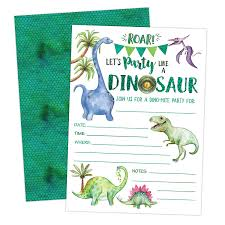 Dinosaur Birthday Invitation Dinosaur Birthday Invitation Boy T Rex Dino Party Invites 20 Invitations And Envelopes